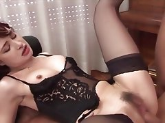 Brunette, Group Sex, MILF, Old and Young, Double Penetration