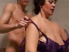 Mature chubby swinger cheating wife doing two black cocks tmb