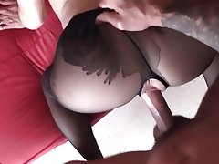Blonde, Blowjob, Pantyhose, Big Cock
