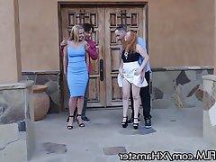 Redhead, MILF, Double Penetration, Swinger, Outdoor