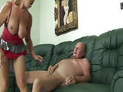 Hairy, Granny, Dildo, Big Tits