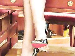 Stockings, Femdom, MILF, Lingerie, Pantyhose