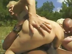 Cumshot, Granny, Interracial