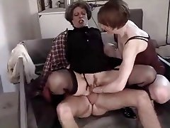 Double cock for a french mature whore