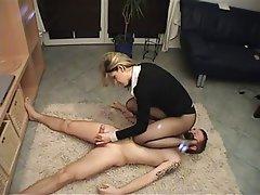 BDSM, Face Sitting, Femdom, Handjob, Stockings