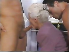 Double Penetration, Granny, Mature, Old and Young, Threesome