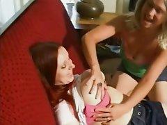 Blonde, Lesbian, Masturbation, Redhead