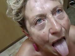Blowjob, Cumshot, German, Granny, Mature