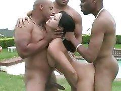 Anal, Brunette, Double Penetration, Gangbang, Interracial
