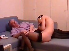 Gangbang, German, Group Sex, MILF, Stockings