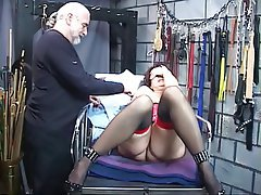 BDSM, Brunette, Mature, Lingerie, Interracial