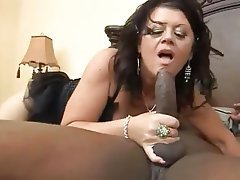 Blowjob, Cumshot, Granny, Interracial