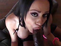 Blowjob, Cumshot, Facial, Interracial, POV