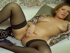 Lingerie, Masturbation, Russian, Stockings, Webcam