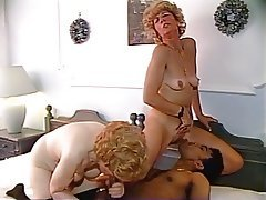 German, Granny, Interracial, Old and Young, Threesome