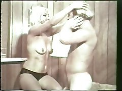 Blonde, Blowjob, Facial, Hairy, Vintage