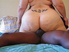 Mature bbw anal interracial