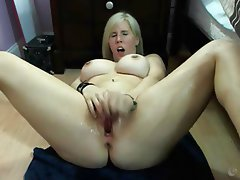 Amateur, Blonde, Big Boobs, Squirt, Webcam