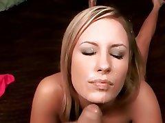 Blonde, Cumshot, Facial, POV