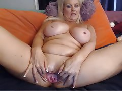 Big Boobs, Blonde, Masturbation, POV, Webcam