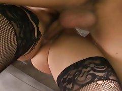 Close Up, Creampie, Hardcore, Japanese, Stockings