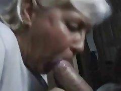 Granny suck cock cum mouth