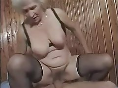 Big Boobs, Cumshot, Granny, Hairy, Old and Young