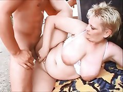 Granny huge tits anal properties