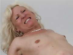 Blowjob, Facial, Blonde, Granny