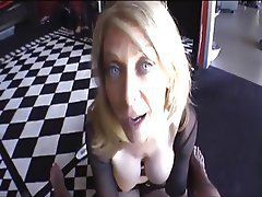 Blonde, Blowjob, Mature, POV