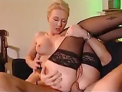 Anal, Babe, Blonde, French, Stockings