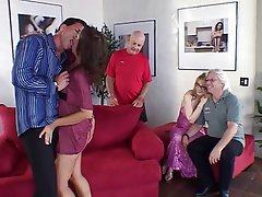 Blowjob, Creampie, Group Sex, MILF