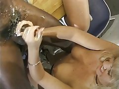 Group Sex, Handjob, Threesome, Interracial, Blonde