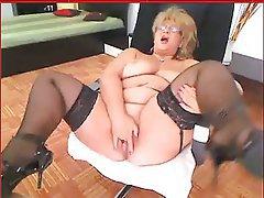 Amateur, Mature, Granny, Masturbation, Webcam