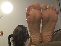 Babe, Brunette, Foot Fetish