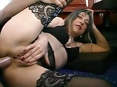 Anal, French, Granny, Mature, Stockings