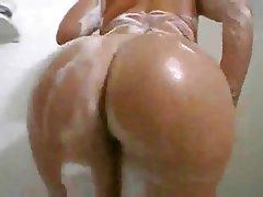 Brunette, Shower, Close Up, Amateur
