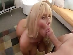 Big Boobs, Blonde, Blowjob, Mature, Cumshot