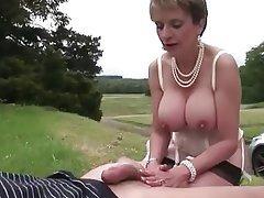 Mature lingerie suck and fuck