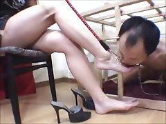 BDSM, CFNM, Femdom, Foot Fetish, Japanese