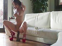 Amateur wife dildo orgasm