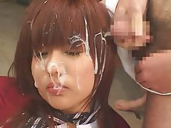 Asian, Bukkake, Cumshot, Facial