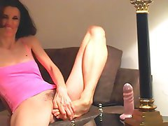 Brunette, Foot Fetish, Skinny, Small Tits, Webcam