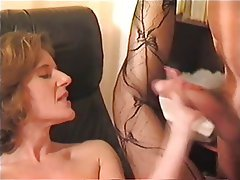 Cumshot, German, MILF, Secretary