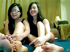 Amateur, Asian, Foot Fetish, POV, Webcam
