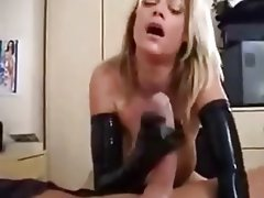 Blonde, Cumshot, Handjob, Latex, MILF