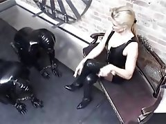BDSM, Femdom, Foot Fetish, German, Latex