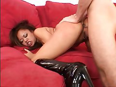 Blowjob, Facial, Brunette, Asian, Hairy