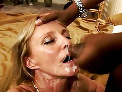 Blowjob, Cumshot, Facial, Interracial, Mature