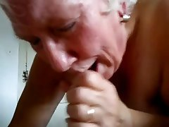 Granny swallowing blowjob